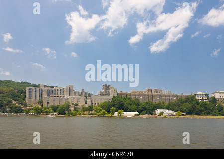 West Point Military Academy on the Hudson River in New York State - Stock Photo