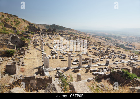 Ancient Greek city Pergamon, now Bergama, Turkey - Stock Photo