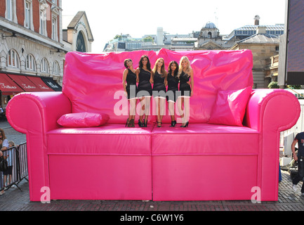 ... The Saturdays T Mobileu0027s Big Sofa Night In Launch Held At Covent Garden  London,