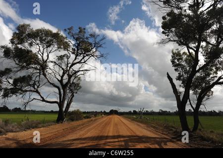 dirt track off Albany Highway, Western Australia, Australia - Stock Photo