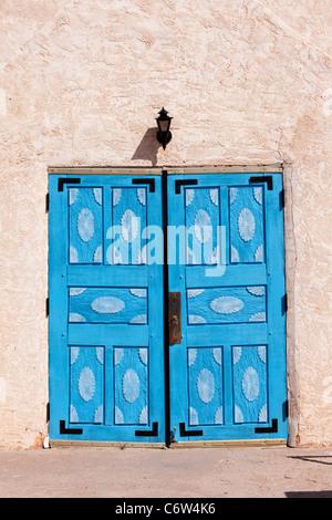 Church doors, San Ysidro, New Mexico. - Stock Photo