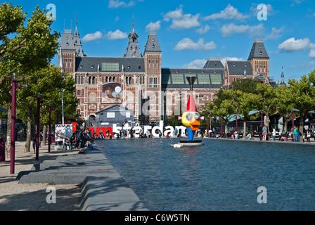 Rijksmuseum, Amsterdam - Stock Photo
