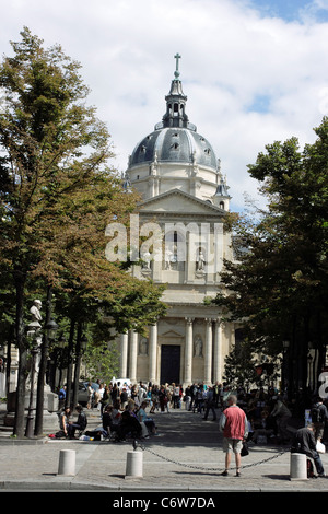 The church of the Sorbonne in Paris, France. - Stock Photo
