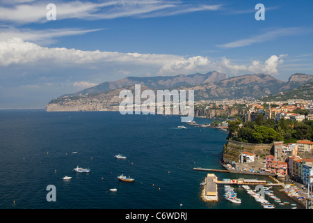 The town of Sorrento on the Amalfi Coast - Stock Photo