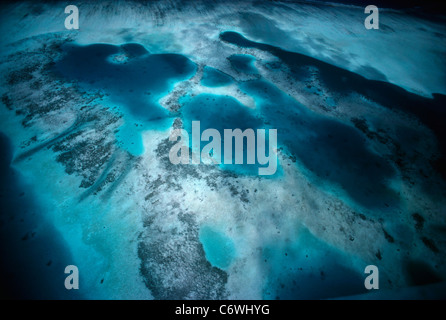 Fringing Coral Reef. Palau Islands, Micronesia, Pacific Ocean - Stock Photo