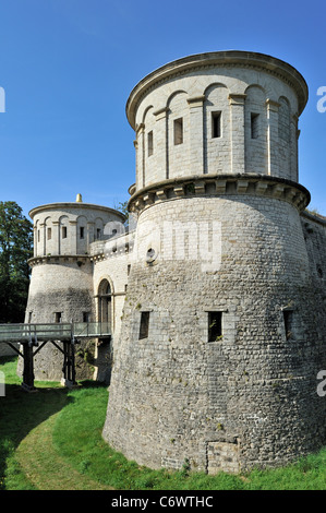 Ancient fortress Vauban / Fort Thüngen at Kirchberg, Luxembourg - Stock Photo