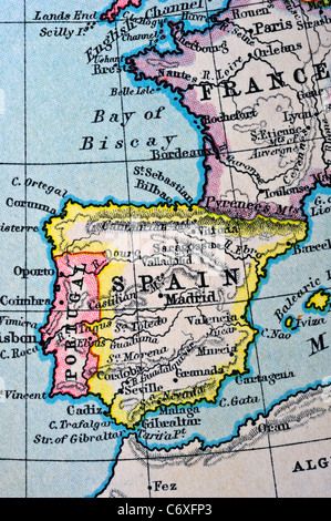 Map With Latitude And Longitude Lines Stock Photo Royalty Free - Portugal map longitude