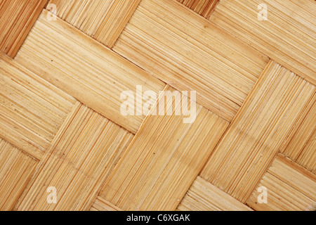 diagonal woven bamboo strips for background texture - Stock Photo