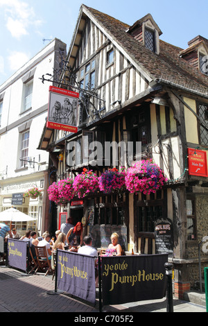 Hastings UK. Ye Olde PumpHouse pub George Street,  in the Old Town. East Sussex, England, GB - Stock Photo