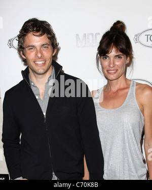 James Marsden and Wife Lisa Linde Tod's Boutique grand opening in Beverly Hills - Arrivals Los Angeles, California - Stock Photo