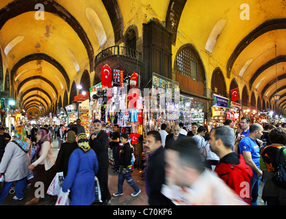 Rush hour in the Misir Carsi (means 'Egyptian Market'), the spice bazaar, Istanbul, Turkey. - Stock Photo