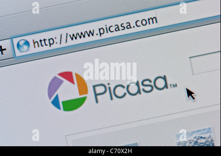 Close up of the Picasa logo as seen on its website. (Editorial use only: print, TV, e-book and editorial website). - Stock Photo