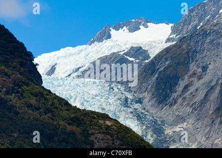 Franz Josef Glacier in New Zealand - Stock Photo