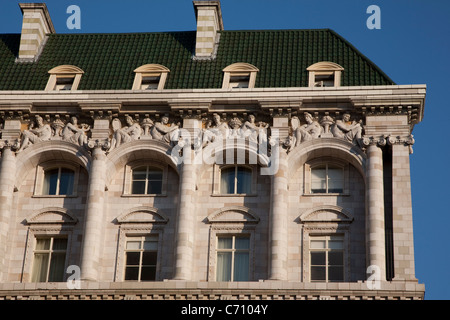 Facade of the Savoy Theatre, London, England, UK - Stock Photo