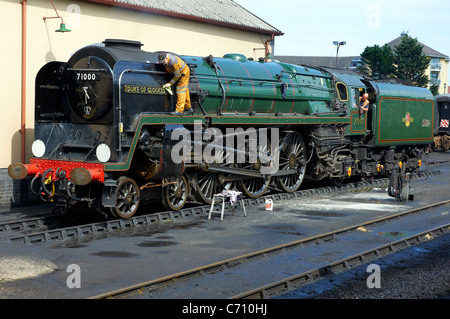Unique BR Standard pacific 'Duke of Gloucester' No 71000  Minehead Station, West Somerset Railway (WSR). - Stock Photo
