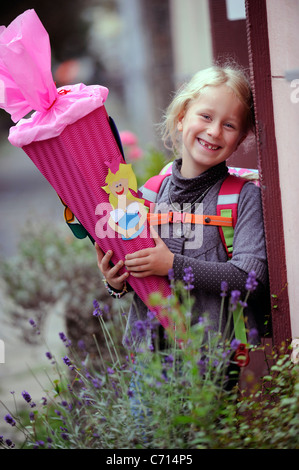 Enrollment of a 6 year old girl - Stock Photo