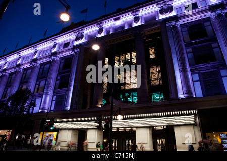 Selfridges Department Store in Oxford Street, West End, London, England, UK - Stock Photo