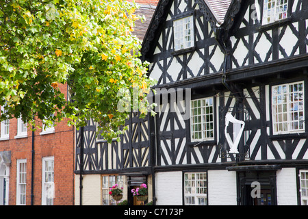 Half Timbered Buildings on Dinham Ludlow Shropshire England - Stock Photo