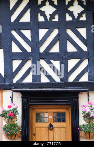 Half Timbered Building on Dinham Ludlow Shropshire England - Stock Photo