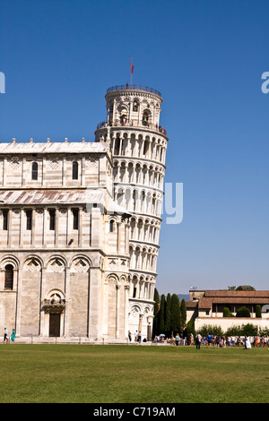 The famous leaning tower of Pisa - Stock Photo