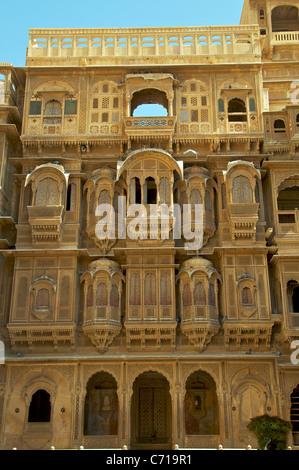 Beautiful facade Patwa-ki-Haveli Jaisalmer Western Rajasthan India