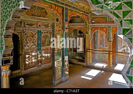 Mirrored room Patwa-ki-Haveli Jaisalmer Western Rajasthan India