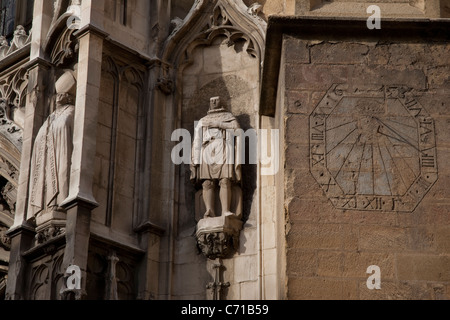 Facade of St Sauveur Cathedral in Aix-en-Provence, France - Stock Photo
