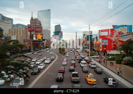 United States of America, Nevada, Las Vegas, Hotels and Casinos along the Strip - Stock Photo