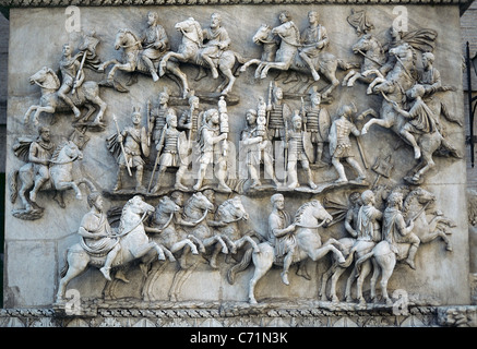 Antoninus Pius (86-161). Roman Emperor (138-161). Apotheosis of the emperor. Relief. Vatican Museums. Vatican City. - Stock Photo