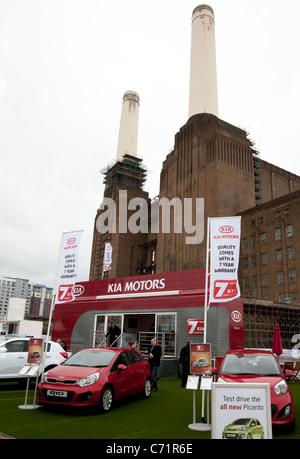 Ecovelocity motor festival London - Kia Motors stand - Stock Photo
