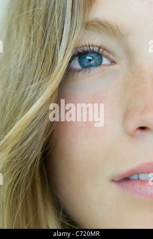 Young woman, close-up portrait - Stock Photo