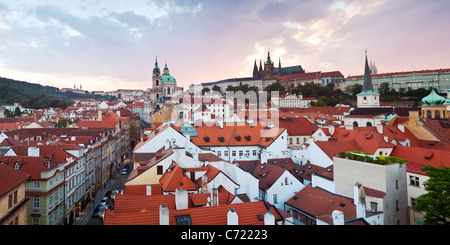 View over rooftops, Old town, Prague, Czech Republic - Stock Photo