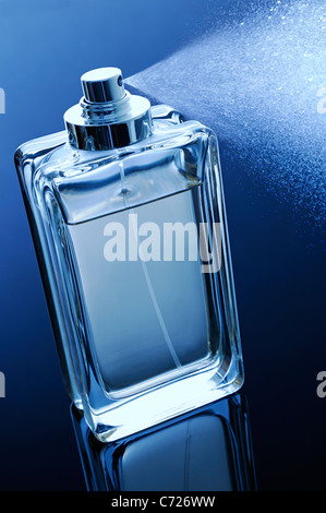Perfume Bottle with Spray - Stock Photo