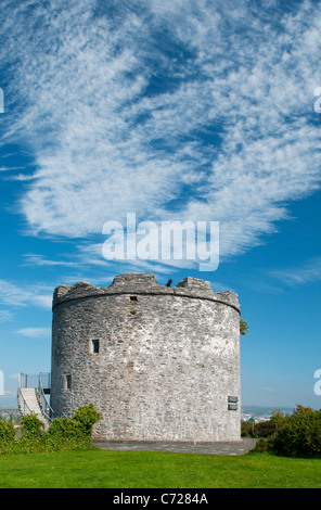Seventeenth century artillery tower at Mount Batten, Plymouth, Devon UK - Stock Photo