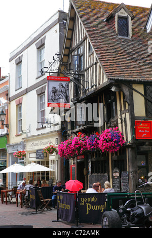 Hastings UK. Pubs and Cafés in George Street in the Old Town, East Sussex, England, UK, GB - Stock Photo