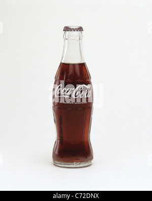 Traditional bottle of Coca-Cola, Los Angeles, California, United States of America - Stock Photo