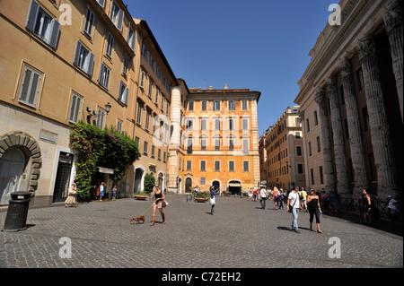 italy, rome, piazza di pietra - Stock Photo