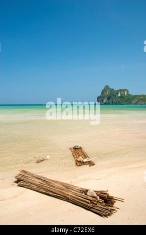 tropical beach in ko phi phi thailand - Stock Photo
