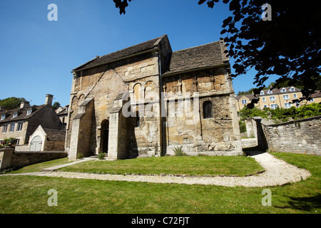 The Saxon Church of St Laurence, Bradford on Avon, Wiltshire, England, UK - Stock Photo