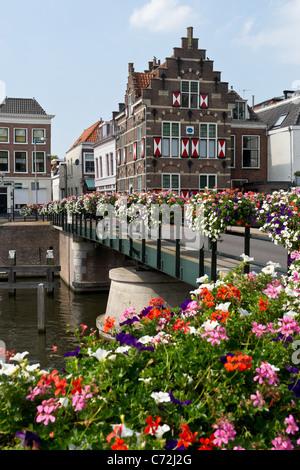 Bridge keeper house, Gorinchem, Holland. - Stock Photo