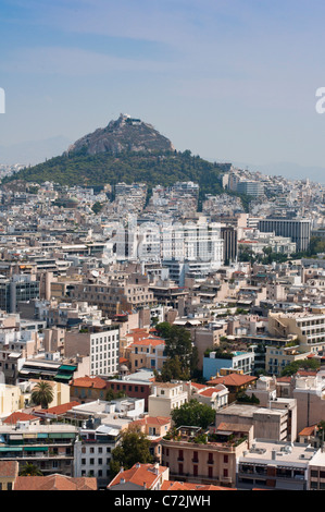 Athens seen from the Acropolis. Greece. - Stock Photo