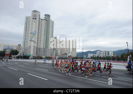 General view of Men's Marathon for The 13th IAAF World Championships in Athletics. - Stock Photo