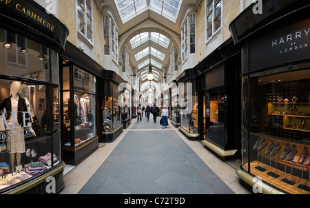 Expensive West End shops in Burlington Arcade just off Piccadilly, London, UK - Stock Photo