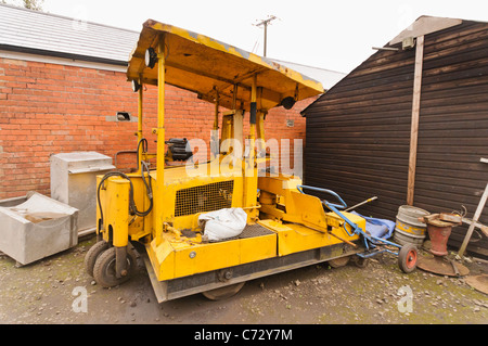 Railway maintenance vehicles at the Railway Preservation Society of Ireland - Stock Photo