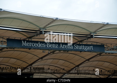 "VfB Stuttgart, the soccer team, present their renovated stadium ""Mercedes-Benz Arena"" during event ""Neckarpark-Fest"" - Stock Photo"