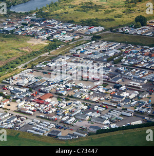 Dale Farm Travellers Site, Essex, South East England - Stock Photo
