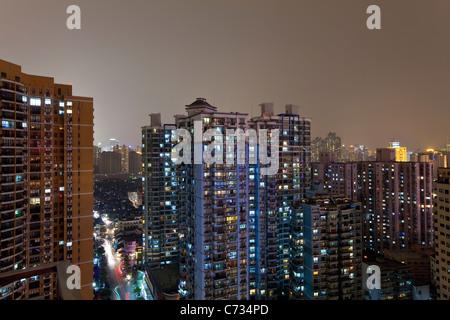 Apartment buildings in Central Shanghai, Shanghai, China
