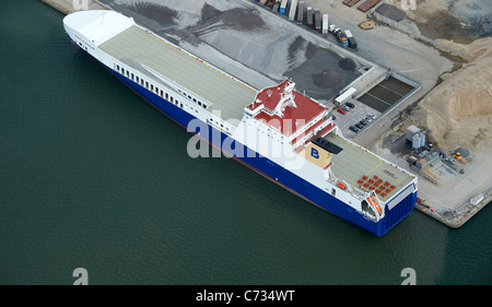 Container Ship in Tilbury Docks, South East England, UK - Stock Photo