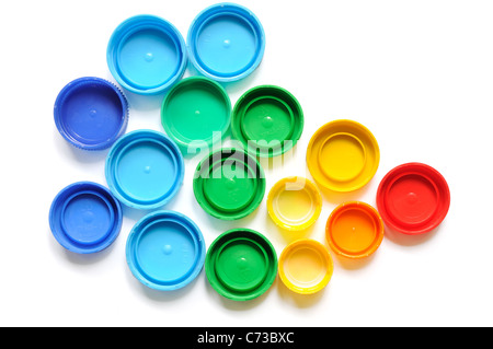 abstract shape made of bottle cap - Stock Photo