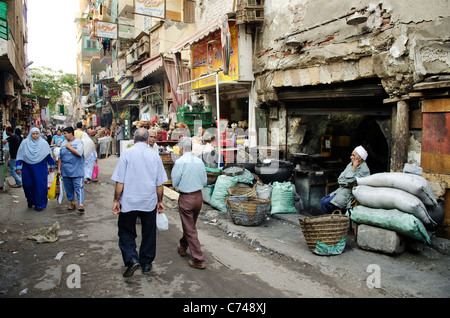 street scene in cairo old town egypt - Stock Photo